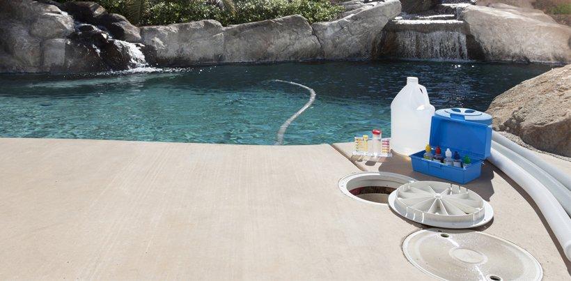 swimming pool ready for repair
