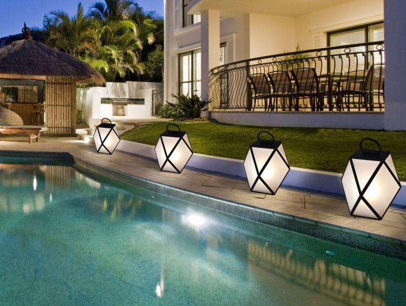 pool outdoor floor lamps